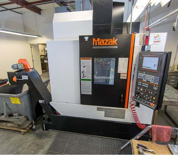 Manual and CNC Milling Manual and CNC Milling New York - Vertical Machining Center, the Mazak 410A, with Mazatrol Smart Control